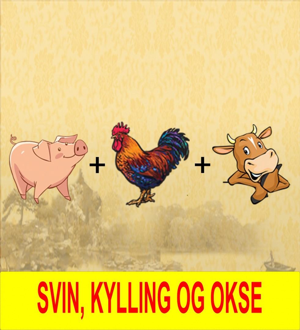 17. Kylling okse_&_svin