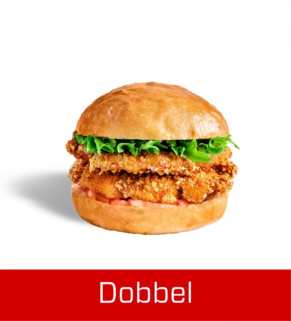 Dobbel Chicken Filet Burger
