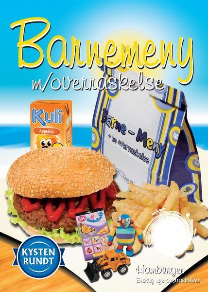 Hamburger m/chips barnemeny