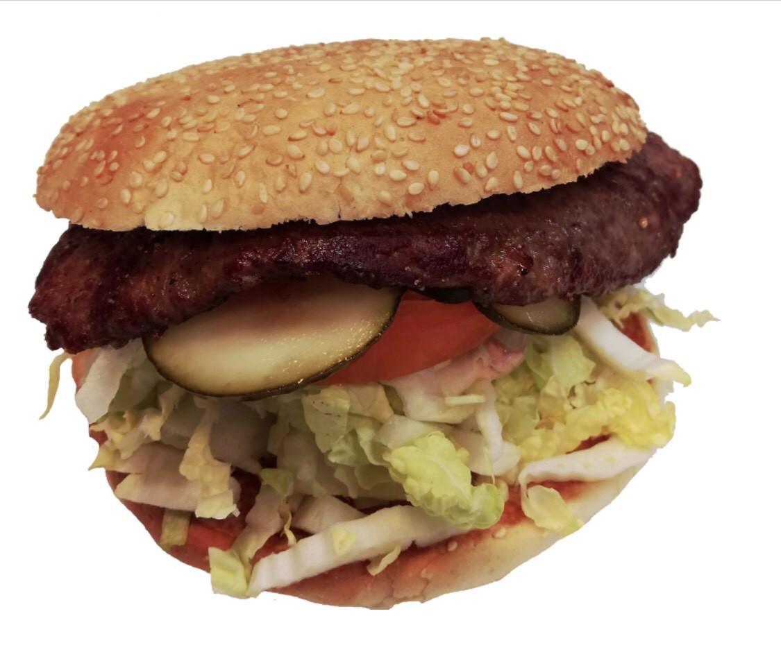 Løvbiff burger